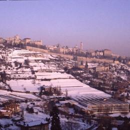 Panorama di fine gennaio '85 da via Borgo Canale