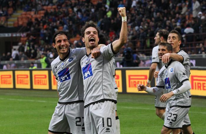 L'esultanza a San Siro dopo il goal con l'Atalanta conto l'Inter, lo scorso campionato