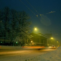 Porta Nuova e la neve