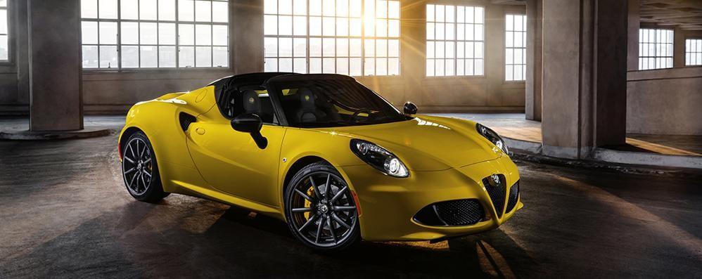 L'Alfa Romeo 4C spider parte dal mercato Usa