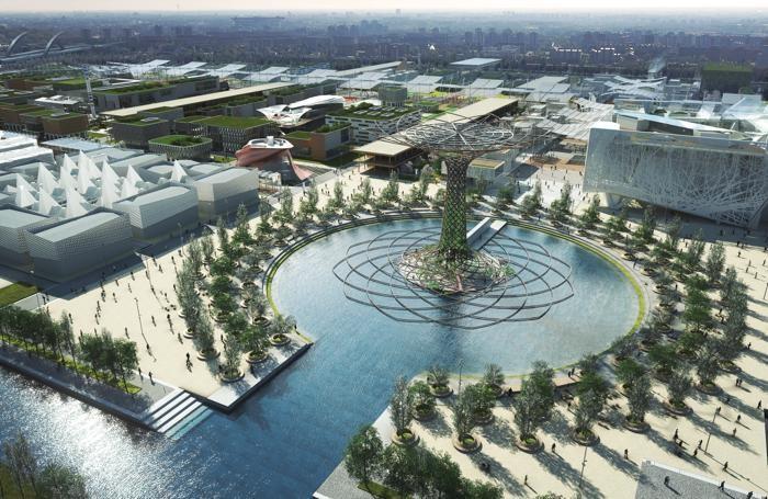 Un rendering dell'area dell'Expo