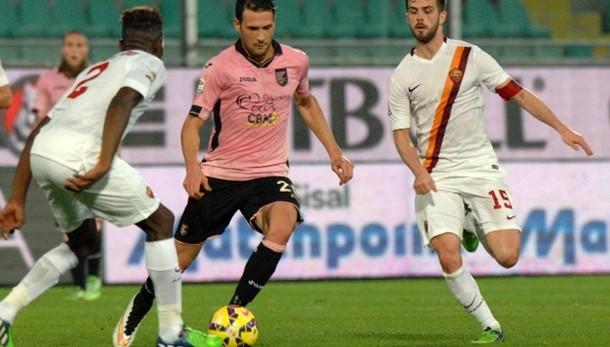 Anticipo serie A: Palermo-Roma 1-1