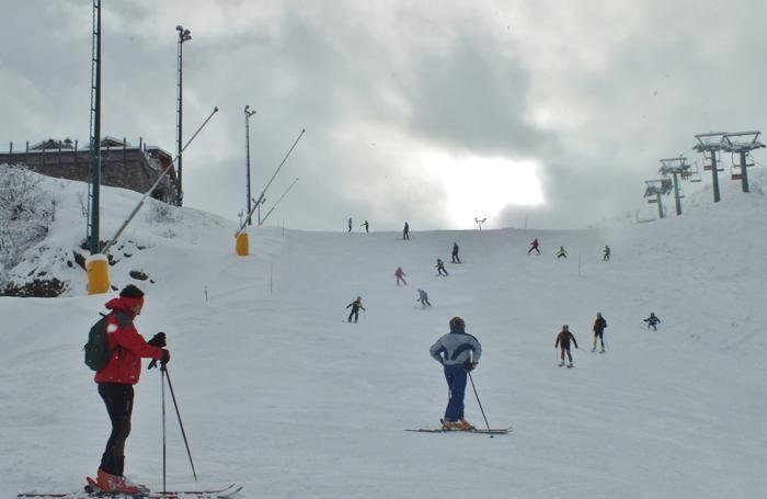 Sciatori sulle piste di Lizzola