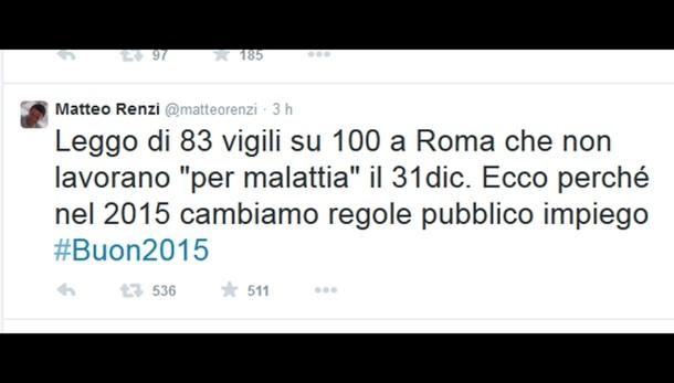 Renzi, vigili assenti? Cambiamo regole