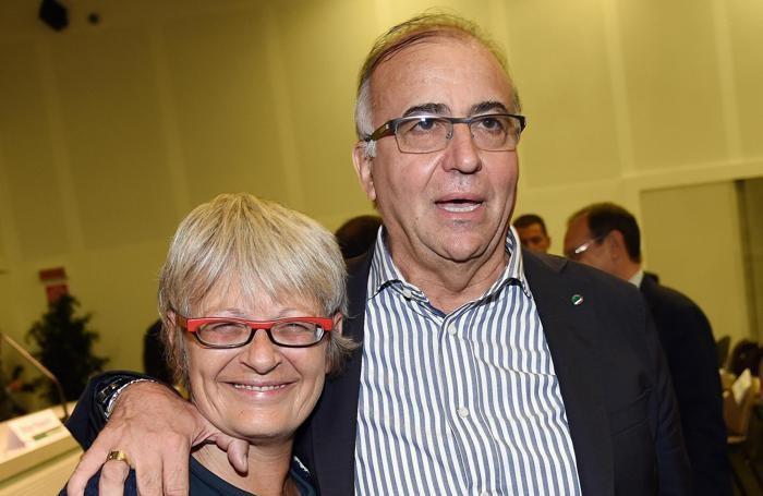 Da sinistra, Annamaria Furlan segretario generale Cisl e Gigi Petteni