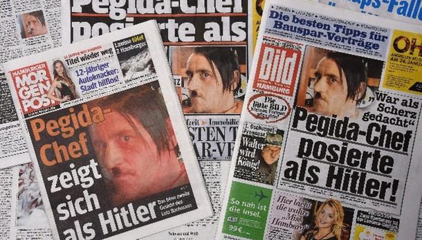 Germania: leader Pegida posa da Hitler