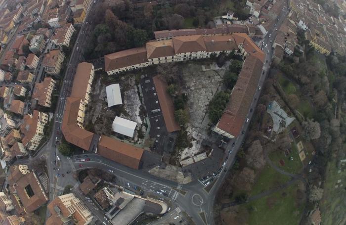 Montelungo, una veduta aerea