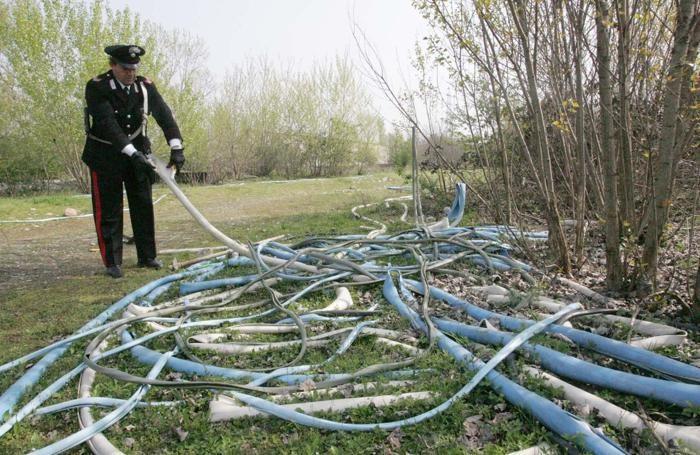 I carabinieri avevano recuperato il rame rubato dopo un furto qualche mese fa