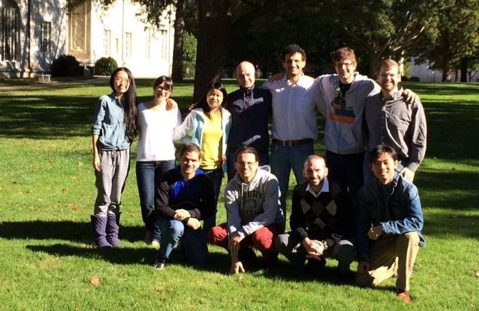 Alessandro Veneziani con i suoi collaboratori e studenti