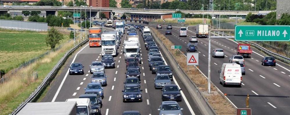 Bergamo-Milano sull'autostrada A4 Aumento di 10 centesimi per tratta