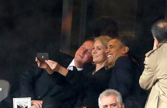 Un selfie di Obama