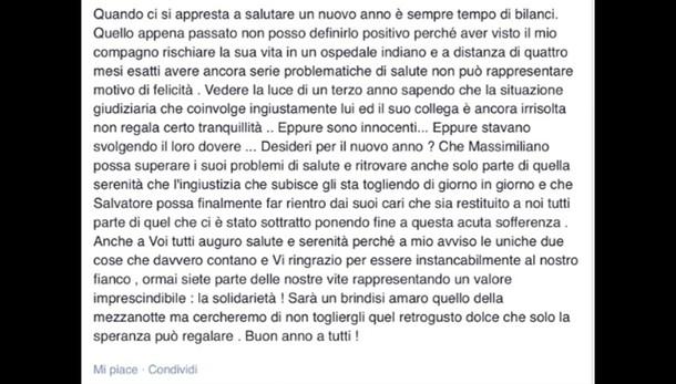 Marò: compagna Latorre, sono innocenti