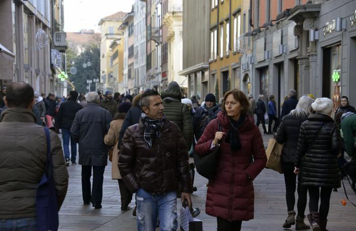 L'inizio dei saldi a Bergamo