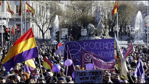 Spagna:Podemos, decine migliaia a Madrid