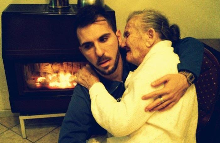 Giancarlo Murisciano con la nonna