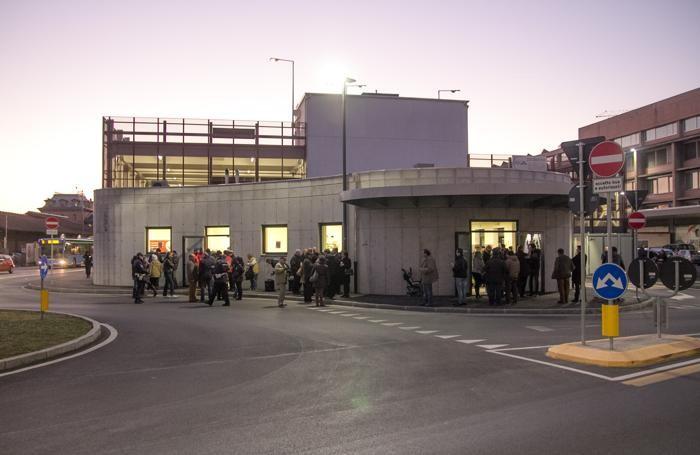 L'inaugurazione della mensa alla stazione delle autolinee