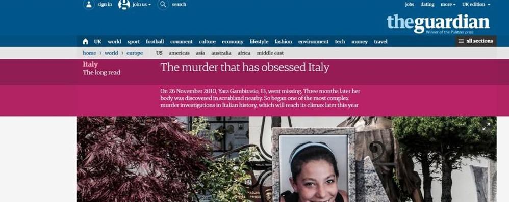 «Il delitto che ha ossessionato l'Italia» Il Guardian racconta la storia di Yara