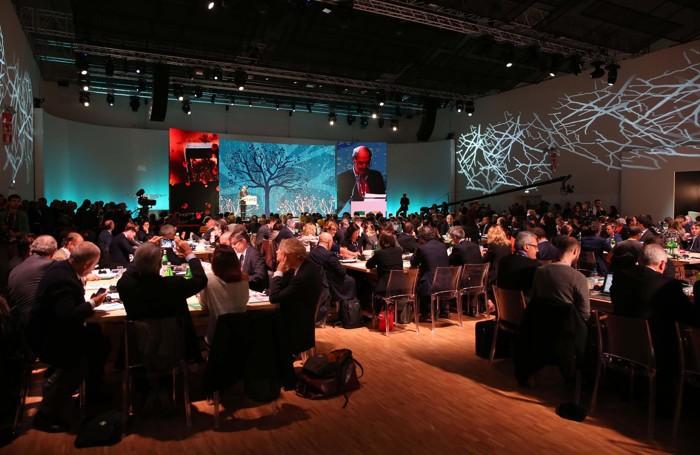Un momento della giornata dedicata a 26 tavoli tematici in occasione dell'iniziativa: «Expo dopo Expo»