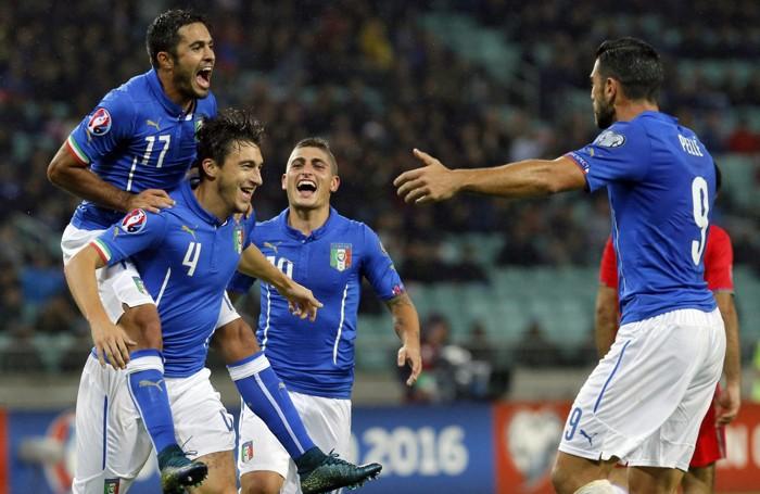 La gioia della squadra azzurra