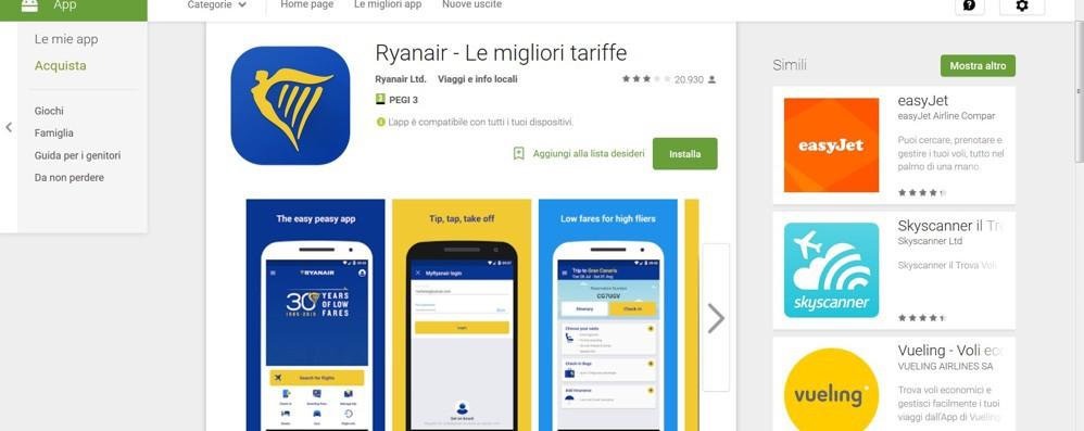 Addio carta di imbarco cartacea Arriva la nuova app di Ryanair