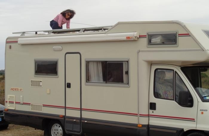 Il camper rubato a Carmen Scarvaglieri