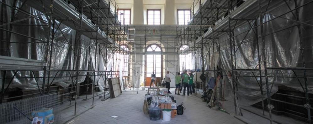 Salone Furietti, concluso il restauro Via i ponteggi:  riallestimento da fine mese
