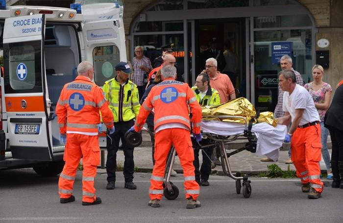 L'aggressione alla direttrice della filiale di Ciserano della Cassa rurale di Treviglio nello scorso maggio