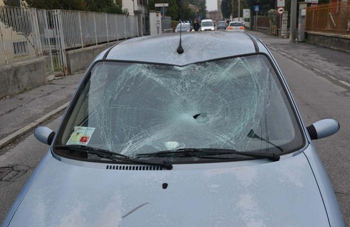 La Fiat Seicento coinvolta nell'incidente