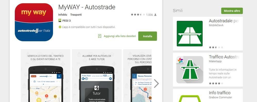 Multati al Tutor? Vi aiuta l'app «My Way» Le info sul traffico ora sono gratuite
