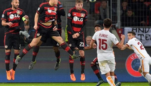 Champions: Bayer Leverkusen-Roma 4-4