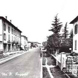Lunga e diritta correva la strada Ecco Valtesse mezzo secolo fa