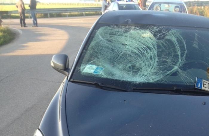 La Volvo coinvolta nell'incidente di Bariano