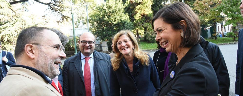 Laura Boldrini al Donizetti - Foto e video «La crisi si supera con l'aiuto di tutti»