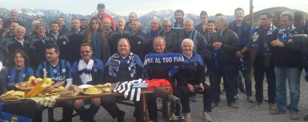 Alba Parietti tra i tifosi nerazzurri su Rai 2 «Vorrei vivere sempre in Val Brembana»