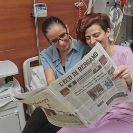 Il giornale anche in ospedale Ogni giorno 600 copie gratis