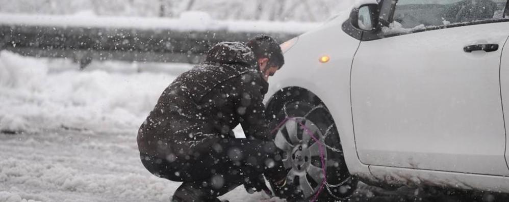 Catene nelle strade a rischio neve (E pure da Grassobbio a Zanica...)