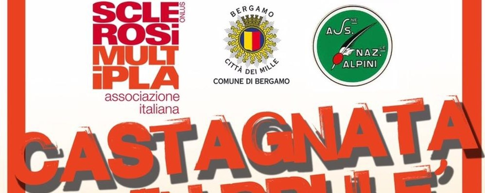 Castagnata e novello con l'Aism di Bergamo