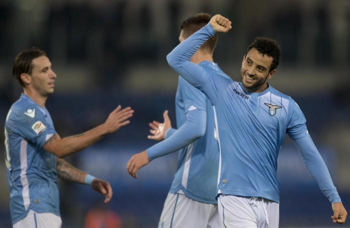 La felicità dei giocatori della Lazio per la vittoria sul Torino