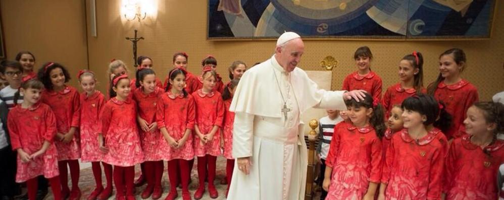 L'Antoniano da Papa Francesco Il look è made in Bergamo con MiMiSol