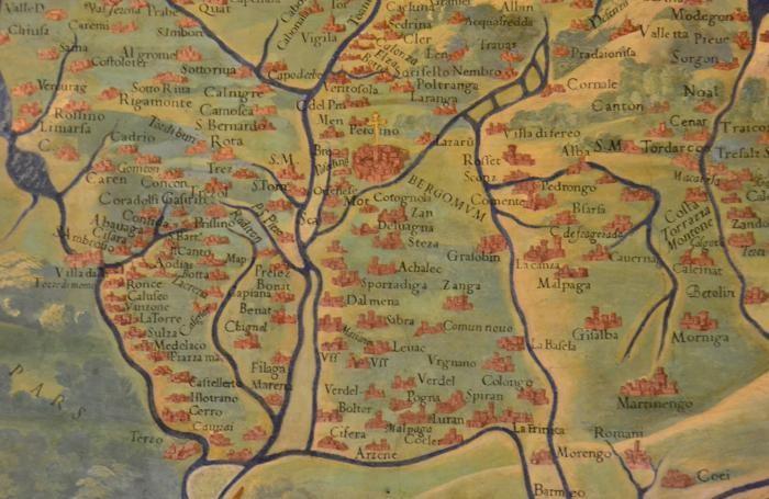 La mappa nei Musei Vaticani