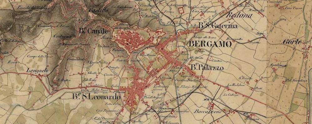 Bergamo Sulla Cartina Geografica.Bergamo Mappe Storiche Online Foto Ecco Come Siamo Cambiati In