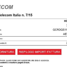 Bollette elettroniche con virus Attenti alla finta mail Telecom