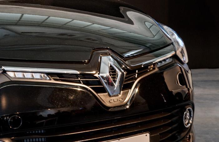 Un particolare della Renault Clio
