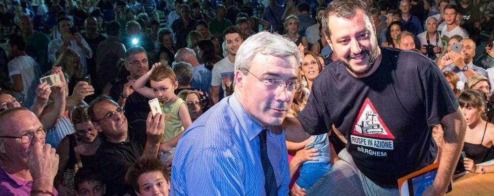 Salvini: Pezzoni? Non lo conosco  «E non dovrebbe più essere sindaco»