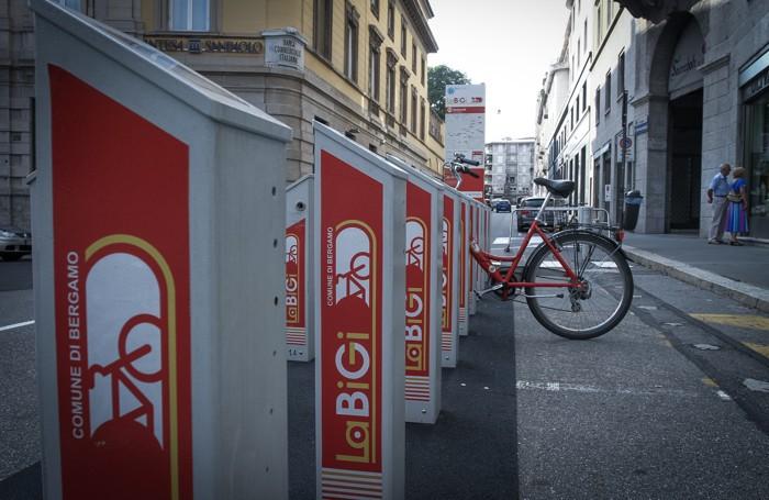 Pista ciclabile a Bergamo