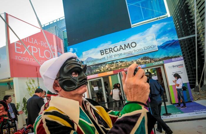 Lo stand bergamasco dell'Expo