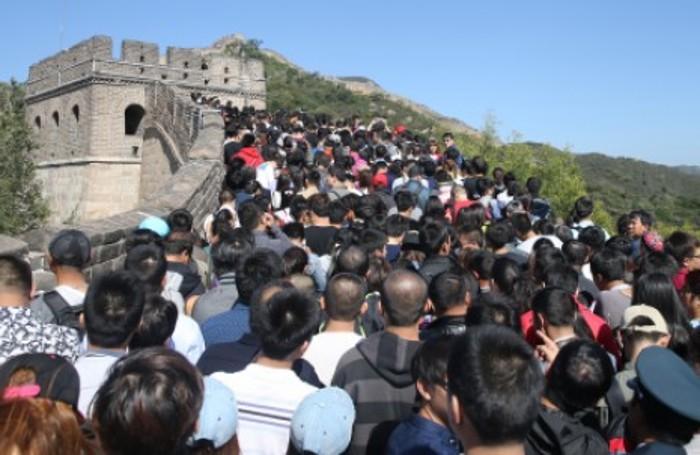 Il traffico.... sulla Muraglia cinese nei giorni scorsi