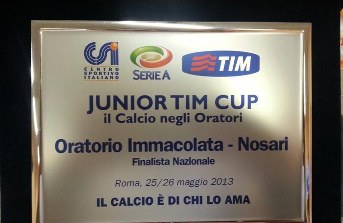 Unione Sportiva Nosari: il trofeo della Junior Tim Cup