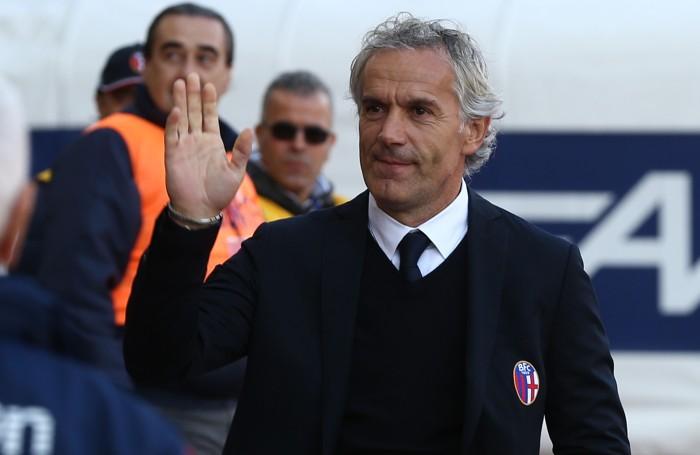 Roberto Donadoni al debutto sulla panchina del Bologna