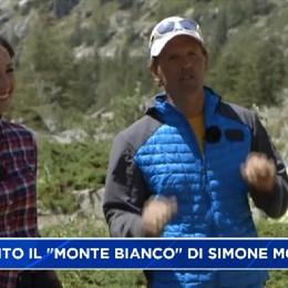 Simone Moro, 'capo-cordata' in Monte Bianco su Rai2